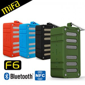 MiFa F6無線NFC隨身藍芽MP3喇叭 藍芽4.0無線播放 AUX IN/插卡播放/免持通話