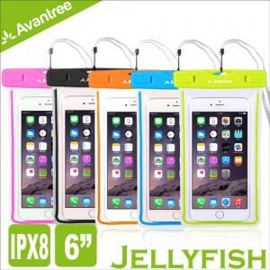 Avantree Jellyfish 運動螢光手機防水袋 浮潛/遊泳可用  IPX8防水等級 附頸掛式吊繩