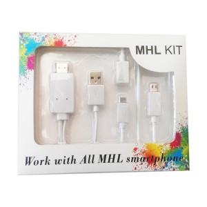 安卓 MHL 轉 HDMI線 手機轉電視 MHL 轉 HDMI 高清晰傳輸線 轉接線
