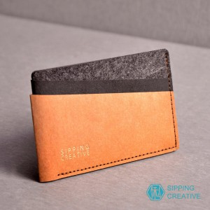俬品創意 - 設計款紙革信用卡夾(時尚駝)