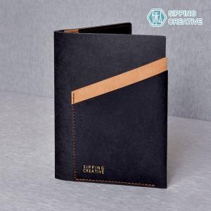 俬品創意 - 設計款紙革護照夾(時尚黑)