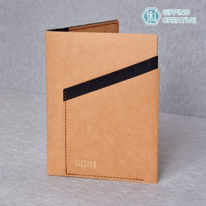 俬品創意 - 設計款紙革護照夾(時尚駝)