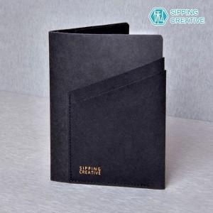 俬品創意 - 設計款紙革護照夾(極簡黑)