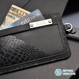 俬品創意 - 設計款紙革鱷魚紋iPhone保護套 (適用5/SE)