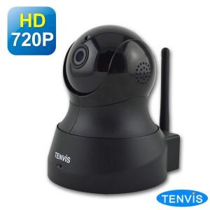 TENVIS TH-661 HD無線網路攝影機 (黑色) WDR廣域動態視角&3D-DNR降雜訊