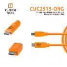 Tether Tools CUC2515-ORG USB-C to 2.0 Micro-B 5Pin (橘)