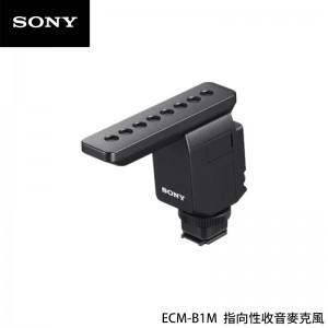 Sony 索尼 ECM-B1M 指向性收音麥克風 攝影用收音 附防風罩 小巧設計 直播收音 戶外