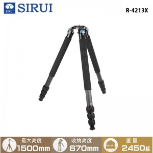 SIRUI 思銳  R-4213X 碳纖維三腳架 不含雲台 低角度拍攝 載重25KG 旅行外拍 錄影