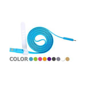 繽紛彩色 iphone 5 / 5S / 5c 雙USB扁線